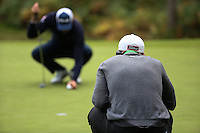 Paul Dunne (IRL) in action during the Final Round of the British Masters 2015 supported by SkySports played on the Marquess Course at Woburn Golf Club, Little Brickhill, Milton Keynes, England.  11/10/2015. Picture: Golffile | David Lloyd<br /> <br /> All photos usage must carry mandatory copyright credit (&copy; Golffile | David Lloyd)