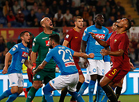 during the  italian serie a soccer match, AS Roma -  SSC Napoli       at  the Stadio Olimpico in Rome  Italy , 14 ottobre 2017