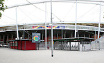 06 June 2006: An entry plaza into Gottlieb-Daimler Stadium shows the ticket scanners in place for the tournament in Stuttgart site of several games during the FIFA 2006 World Cup.