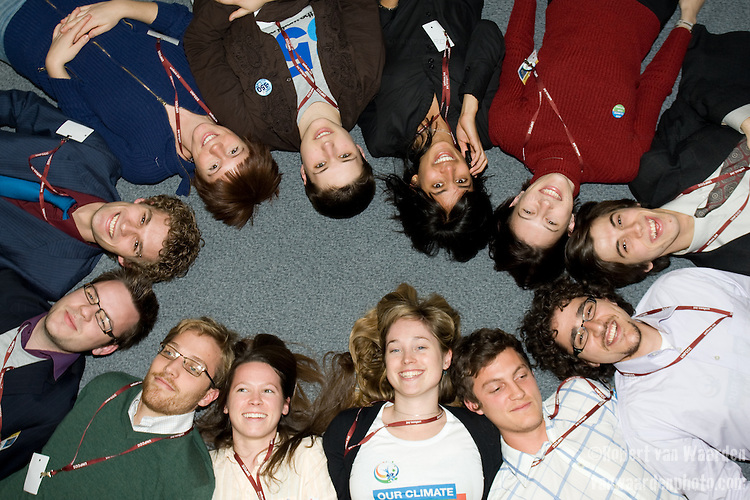 The first meeting of the youth political strategy group. UNFCCC COP 14 (©Robert vanWaarden ALL RIGHTS RESERVED)