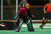 30 August 2005: Sarah Scheller during Stanford's 5-1 loss to Delaware at the Varsity Turf Field in Stanford, CA.