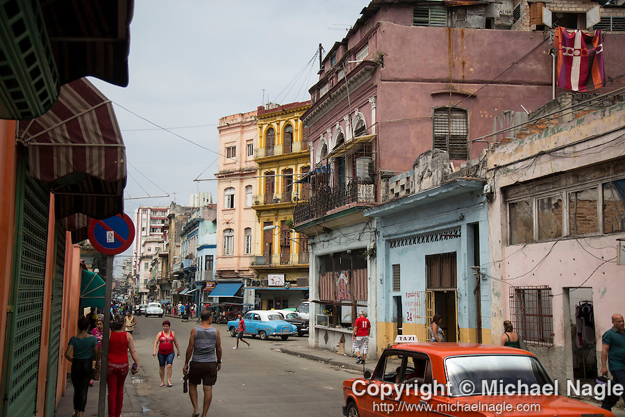 HAVANA, CUBA -- MARCH 24, 2015:   Havana, Cuba on March 24, 2015. Photograph by Michael Nagle