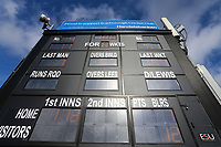 General view of the scoreboard ahead of Yorkshire CCC vs Essex CCC, Specsavers County Championship Division 1 Cricket at Scarborough CC, North Marine Road on 7th August 2017