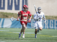 Washington, DC - March 31, 2018: Denver Pioneers Zach Runberg (25) runs with the ball during game between Denver and Georgetown at  Cooper Field in Washington, DC.   (Photo by Elliott Brown/Media Images International)