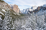 Yosemite Valley view after a snow storm.