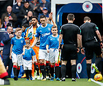 Rangers captain Lee Wallace and mascots