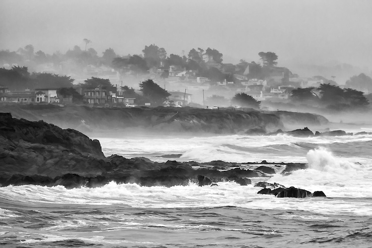 The small town of Cambria on the central California coast claims the rugged beauty of its Moonstone Bay.