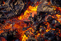 A'a lava flow at Hawaii Volcano National Park from Kilauea volcano