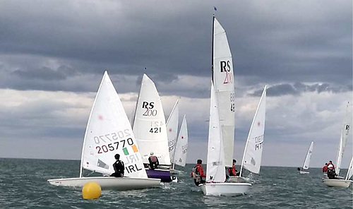 A fleet of RS 400s, 200s and Fevas was boosted by a new fleet of Lasers at Greystones Harbour