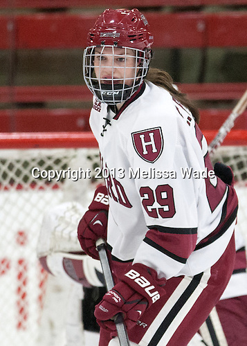 Elizabeth Parker (Harvard - 29) - The Harvard University Crimson defeated the visiting Boston University Terriers 3-1 on Friday, November 22, 2013, at Bright-Landry Hockey Center in Cambridge, Massachusetts.
