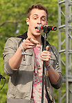 Tyler Cordy, emcee for the American pop band 2am Club performs at Rockford Park in Wilmington, Delaware May 6, 2011..Copyright EML/Rockinexposures.com.