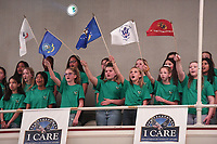 NWA Democrat-Gazette/J.T. WAMPLER The Helen Tyson Middle School All Girls' Choir wave flags representing the branches of the military during a patriotic song Thursday, November 7, 2019 during the annual Veterans Day Observance Ceremony at the Veterans Health Care System of the Ozarks (VHSO) in Fayetteville.