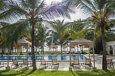 ZANZIBAR, Paje Beach, a view of the Swimming Pool at the Baraza Hotel and the ocean