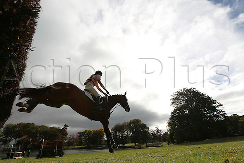 25.09.2010 Equestrian Aske Horse trials, North Yorkshire, UK. . Rebecca Crosbie-Starling riding Coco the Clown.