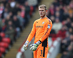 Adam Davies of Barnsley during the championship match at the Oakwell Stadium, Barnsley. Picture date 7th April 2018. Picture credit should read: Simon Bellis/Sportimage