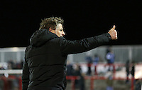 Wycombe Wanderers managerGareth Ainsworth post match <br /> during the Sky Bet League 2 match between Accrington Stanley and Wycombe Wanderers at the Wham Stadium, Accrington, England on 16 March 2016. Photo by Tony (KIPAX) Greenwood / PRiME Media Images.