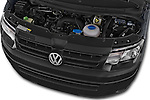 Car Stock 2015 Volkswagen Transporter 2.0 Tdi Bvm6 4 Door Cargo Van Engine high angle detail view