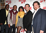 Kingsley Leggs, Demond Green, Caesar Samayoa & John Treacy Egan with Raven-Symone as she celebrates her Broadway Debut in 'Sister Act' at Ava Lounge in the Dream Hotel in New York City on 3/27/2012.