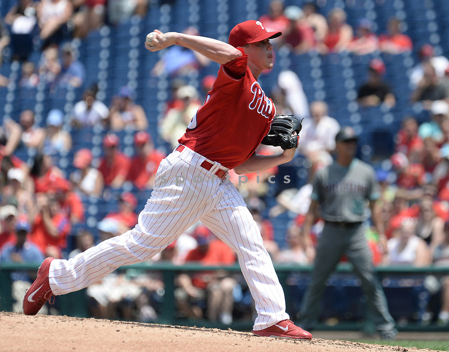 Philadelphia Phillies Jeremy Hellickson (58) during a game against the Arizona Diamondbacks on June 20, 2016 at Citizens Bank Park in Philadelphia, PA. The Diamondbacks beat the Phillies 3-1.