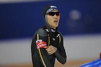 SCHAATSEN: CALGARY: Olympic Oval, 08-11-2013, Essent ISU World Cup, 500m, Keiichiro Nagashima (JPN), ©foto Martin de Jong