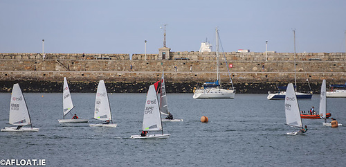 RS Aero DBSC racing at Dun Laoghaire Harbour