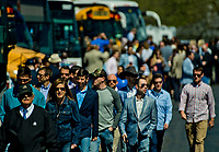 LEXINGTON, KENTUCKY - APRIL 08: Fans gather and have fun on The Hill on Blue Grass Stakes Day at Keeneland Race Course on April 8, 2017 in Lexington, Kentucky. (Photo by Scott Serio/Eclipse Sportswire/Getty Images)