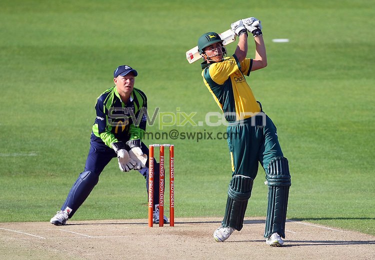 PICTURE BY VAUGHN RIDLEY/SWPIX.COM - Cricket - Twenty20 - Yorkshire v Nottinghamshire - Headingley, Leeds, England - 24/06/10...Copyright - Simon Wilkinson - 07811267706...Yorkshire's Gerard Brophy looks on as Nottinghamshire's Alex Hales hits out.