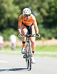 SITTARD, NETHERLANDS - AUGUST 16: Miguel Minguez Ayala of Spain riding for Euskatel-Euskadi competes during stage 5 of the Eneco Tour 2013, a 13km individual time trial from Sittard to Geleen, on August 16, 2013 in Sittard, Netherlands. (Photo by Dirk Markgraf/www.265-images.com)