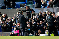 Everton Manager Marco Silva celebrates with his bench after Everton's first goal to make the score 1-0 during the Premier League match between Everton and West Ham United at Goodison Park on October 19th 2019 in Liverpool, England. (Photo by Daniel Chesterton/phcimages.com)<br /> Foto PHC/Insidefoto <br /> ITALY ONLY