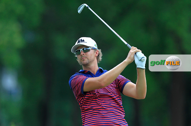 Rikard Karlberg (SWE) in action during Round Two of the Maybank Championship Malaysia 2016, at the Royal Selangor Golf Club, Kuala Lumpur, Malaysia.  19/02/2016. Picture: Golffile | Thos Caffrey.<br /> <br /> All photos usage must carry mandatory copyright credit (&copy; Golffile | Thos Caffrey).