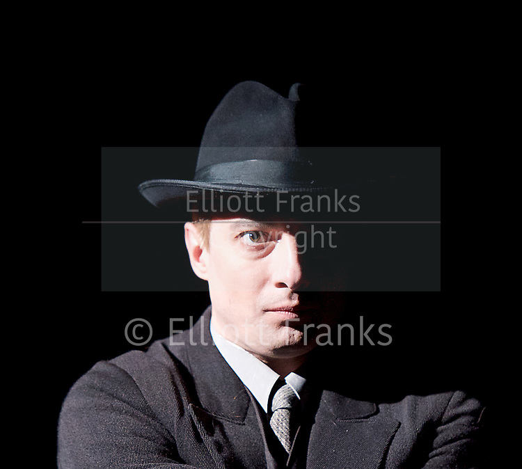 Three Comrades <br /> by Erich Maria Remarque <br /> Moscow Theatre <br /> Sovremennik <br /> at Piccadilly Theatre, London, Great Britain <br /> Press photocall <br /> 4th May 2017 <br /> <br /> Alexander Khovanskiy as Robert Lokhamp <br /> <br /> <br /> <br /> <br /> Photograph by Elliott Franks <br /> Image licensed to Elliott Franks Photography Services