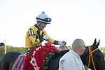 March 7, 2020: #11, KING GUILLERMO, and Jockey Samy Camacho upset the field in the $400,000 Grade II Lambholm South Tampa Bay Derby with a 49-1 longshot win for Trainer Juan Avila on Tampa Bay Derby Day on March 7, 2020 in Tampa, FL. (Photo by Carson Dennis/Eclipse Sportswire/CSM)
