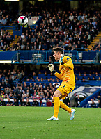 Goalkeeper Kepa Arrizabalaga of Chelsea during the Premier League match between Chelsea and Liverpool at Stamford Bridge, London, England on 22 September 2019. Photo by Liam McAvoy / PRiME Media Images.