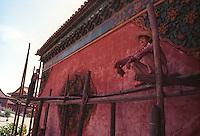 Painter works in Beijing at UNESCO World Heritage Site