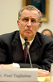 "Washington, D.C. - April 27, 2005 -- Paul Tagliabue, Commissioner, National Football League, testifies before the United States House of Representatives Committee on Government Reform in Washington, D.C. on April 27, 2005.  The commissioner defended the league's drug policies during the hearing ""Steroid Use in Sports Part II: Examining the National Football League's Policy on Anabolic Steroids and Related Substances""..Credit: Ron Sachs / CNP..(RESTRICTION: NO New York or New Jersey Newspapers or newspapers within a 75 mile radius of New York City)"