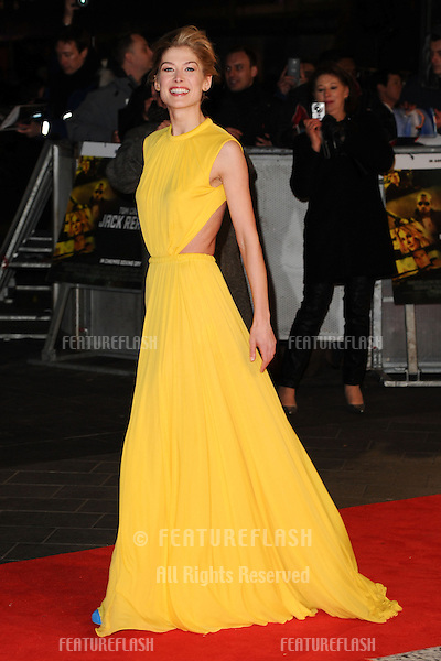 """Rosamund Pike arrives for the """"Jack Reacher"""" premiere at the Odeon Leicester Square, London. 10/12/2012 Picture by: Steve Vas / Featureflash"""