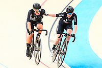 Picture by Alex Whitehead/SWpix.com - 10/12/2017 - Cycling - UCI Track Cycling World Cup Santiago - Velódromo de Peñalolén, Santiago, Chile - New Zealand's Michaela Drummond and Racquel Sheath win Gold in the Women's Madison final.