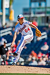 2 March 2019: Washington Nationals top prospect pitcher James Bourque on the mound during a Spring Training game against the Minnesota Twins at the Ballpark of the Palm Beaches in West Palm Beach, Florida. The Nationals defeated the Twins 10-6 in Grapefruit League play. Mandatory Credit: Ed Wolfstein Photo *** RAW (NEF) Image File Available ***
