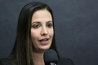 """São Paulo (SP), 29/07/2019 - Política / Governo / São Paulo - Sabrina de Branco, Executiva de Relações Institucionais e Sustentabilidade da Bracell, participa do anúncio do """"Projeto Star"""", que prevê o investimento de R$ 7 bilhões da Bracell para a expansão da fábrica de celulose no estado de São Paulo, nesta segunda-feira, 29. (Foto Charles Sholl/Brazil Photo Press/Agencia O Globo) Politica"""