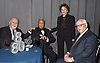 Honorees Vartan Gregorian, Mayor David Dinkins, Marilyn Berger and Roy Zuckerberg attend The New Jewish Home Gala Honoring 8 Over 80 on March 12, 2018 at the Ziegfeld Ballroom in New York, New York, USA.<br /> <br /> photo by Robin Platzer/Twin Images<br />  <br /> phone number 212-935-0770