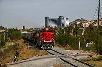 Tren o ferrocarriles mexicanos. Ahora conicido como Ferromex. Estacion de tren FERROMEX en Hermosillo<br /> (Photo: /Luis Gutierrez)..<br /> ..<br /> <br /> pclaves: vias, ferrocarril, transporte traen, maquina,