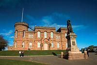 Inverness Castle and Flora McDonald Statue, Inverness, Highland