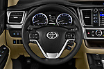 Car pictures of steering wheel view of a 2017 Toyota Highlander LE-Plus 5 Door SUV Steering Wheel