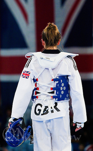 05 MAY 2012 - MANCHESTER, GBR - Jade Jones (GBR) of Great Britain leaves the mat after losing to Edina Kotsis of Hungary in their  women's -57kg category semi final at the 2012 European Taekwondo Championships at Sportcity in Manchester, Great Britain .(PHOTO (C) 2012 NIGEL FARROW)
