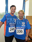Deirdre McMahon and Catherine Kelly who took part in the Seamie Weldon memorial run at St. Mary's GAA club Ardee. Photo:Colin Bell/pressphotos.ie