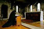 Catholic Nun a member of the Sister of the Precious Blood Hertfordshire England. CONTINUAL OBSERVANCE IN CHURCH