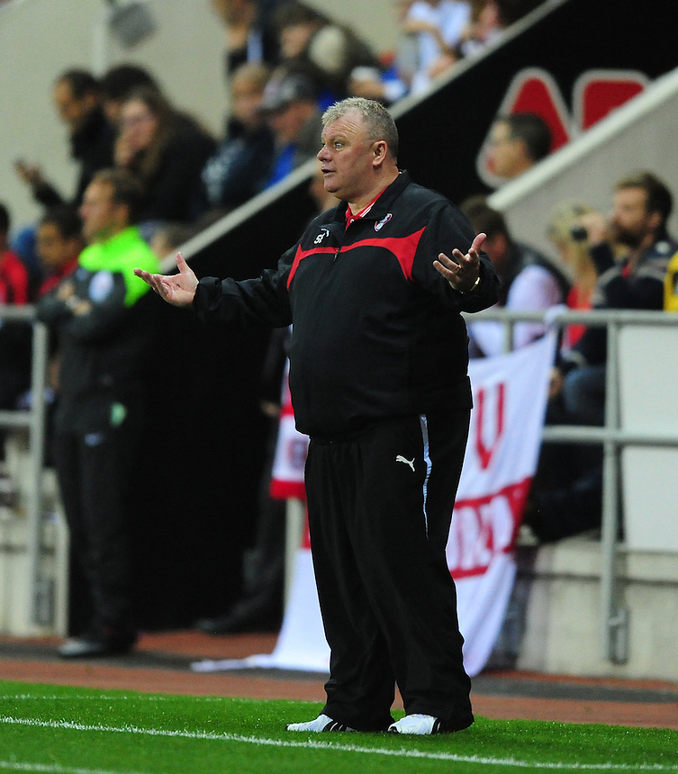Rotherham United manager Steve Evans <br /> <br /> Photographer Chris Vaughan/CameraSport<br /> <br /> Football - Capital One Cup Second Round - Rotherham United v Norwich - Tuesday 25th August 2015 - New York Stadium - Rotherham<br />  <br /> &copy; CameraSport - 43 Linden Ave. Countesthorpe. Leicester. England. LE8 5PG - Tel: +44 (0) 116 277 4147 - admin@camerasport.com - www.camerasport.com