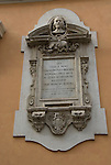 plaque in honor of the great sculpture and painter bernini in rome italy