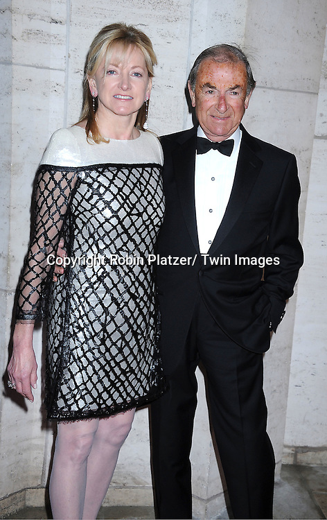 "Barbara Cirkva and guest arriving at The New York City Ballet's 2011 Spring Gala.at The David Koch Theatre at Lincoln on May 11, 2011 in New York City. The world premiere of Brecht/Weill's  ""The Seven Deadly Sins"" was the opening night performance."