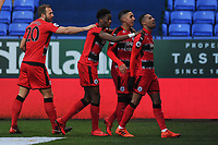 Rajiv van La Parra (right) of Huddersfield Town celebrates his goal with teammates during Bolton Wanderers vs Huddersfield Town, Emirates FA Cup Football at the Macron Stadium on 6th January 2018